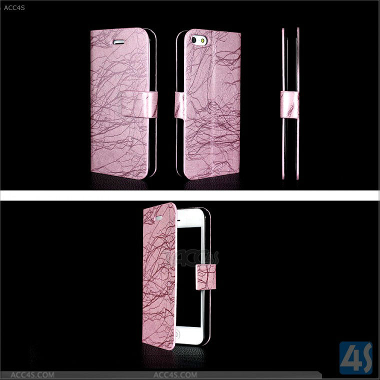 "Cell phone accessory display for iphone 5"" case leather handy accessories china P-IPH5CASE108"