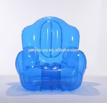 blue transparent inflatable single sofa chair
