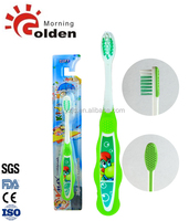 china wholesale mini baby toothbrush with tongue cleaner