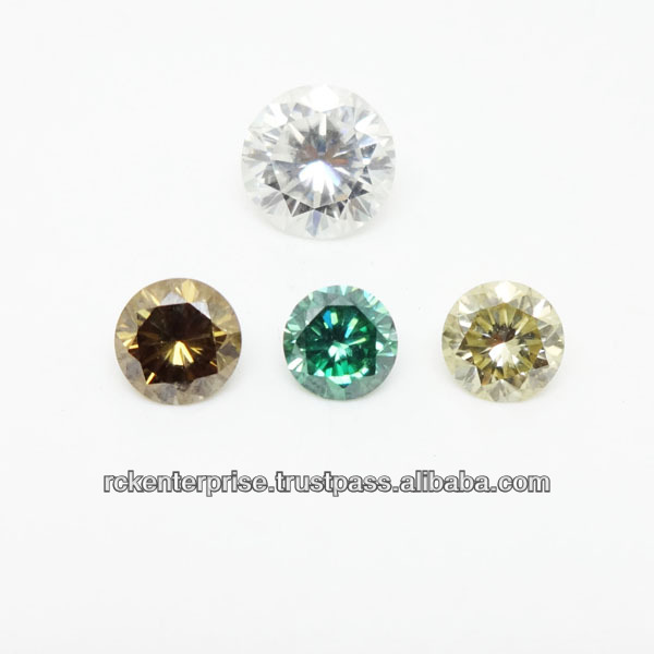 Round Brilliant Synthetic (Man Made) Moissanite Diamond at Very Low Wholesale Price