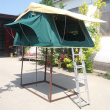 China factory direct roof top tent 12ft camper trailer tent with tropical roof