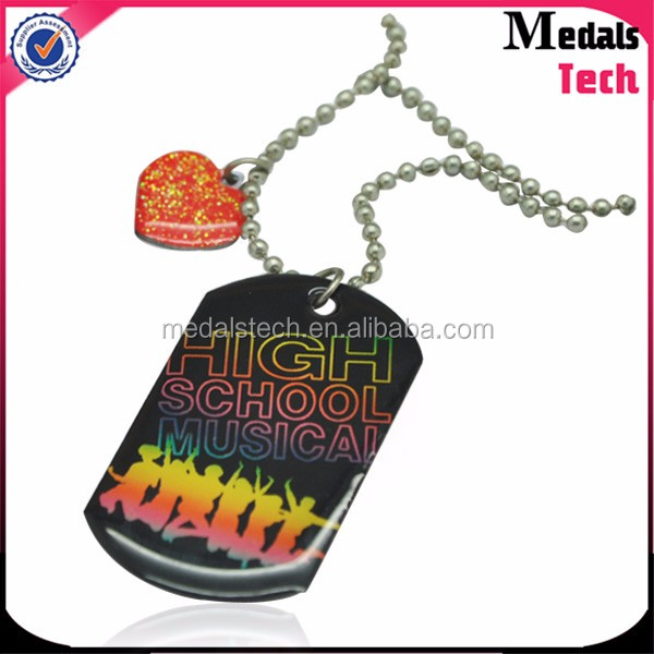 Aluminum printed custom cheap metal dog tag wholesale dog tag necklace
