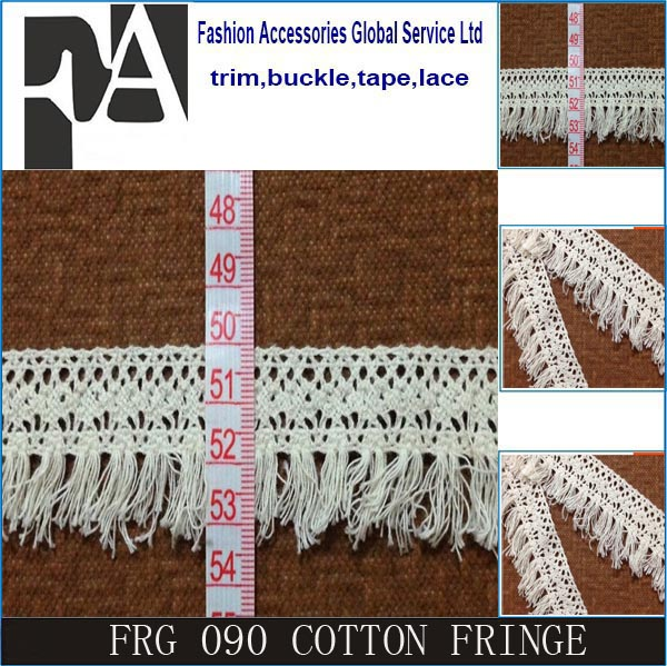 2016 hot sale cotton fringe ,cotton chainette fringe,cotton tassel fringe for dresses/clothes