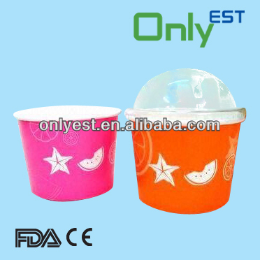High quality 5oz logo on disposable ice cream bowl with plastic lids