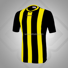 High Quality Sublimation Soccer Jerseys Black and Yellow Jersey