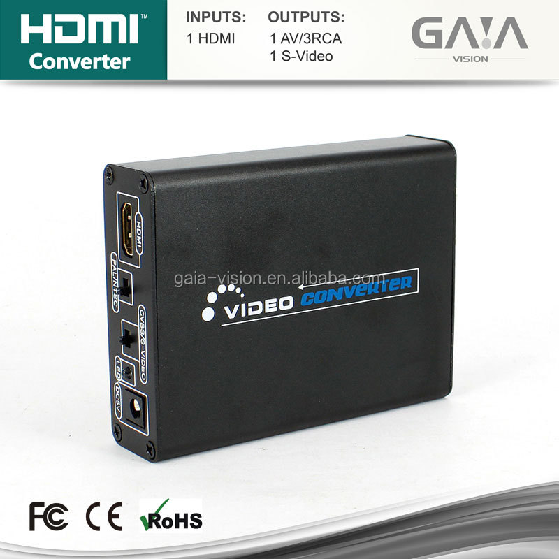 2015 New type 1080P HDMI to AV and S-Video Converter Adapter