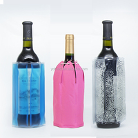 Plastic Promotion Wine Cooler Bag, Bottle Gel Cool Bag