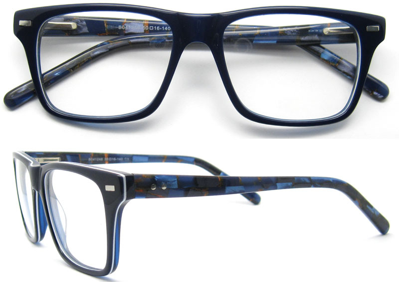 2018 Fancy gafas de lujo marcos B041248-Molduras para gafas ...