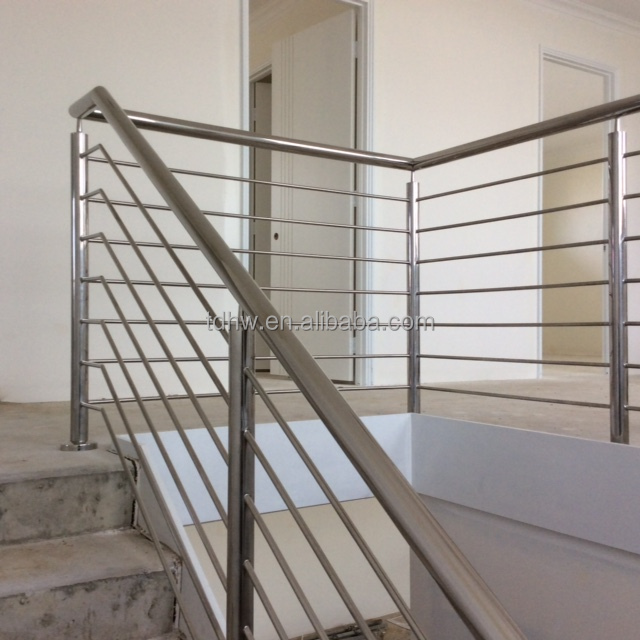 Fully welded bar railing to the internal stairs
