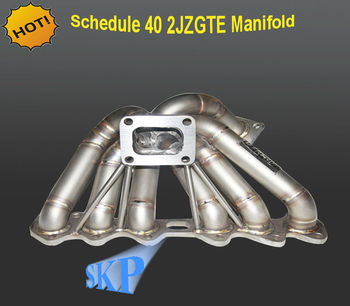 3mm TUBE THICKNESS SCHEDUE 40 T4 TURBO/TURBOCHARGER MANIFOLD EXHAUST 93-98 TOYOTA SUPRA JZA80 2JZGTE (Fits: Toyota Supra)