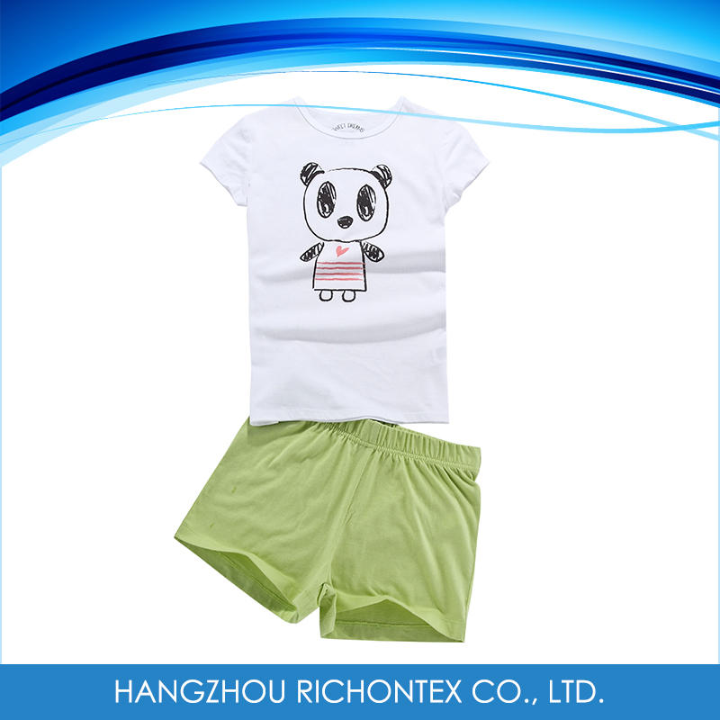 100% Cotton Wholesale Summer Kids Pajama Sets