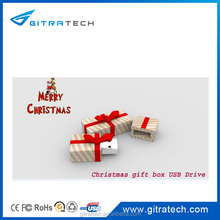 2016 Newest design Christmas Colorful gift box usb flash drive