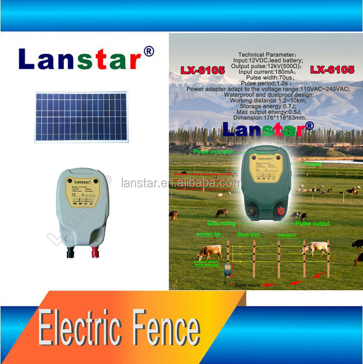 8-30km Efficient Distance Solar Securing Electric Horse Cow Farm Fencing , Elec Power Fence Energizer For Wild Animal