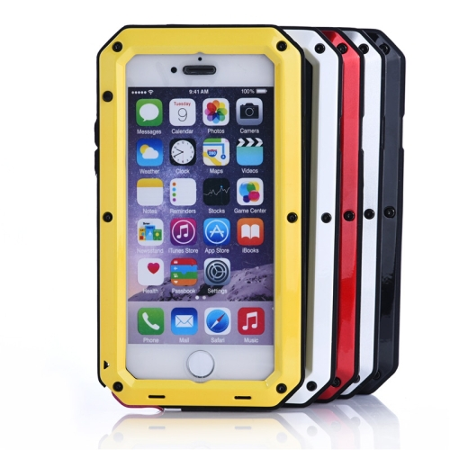 Waterproof Dustproof Shockproof Metal Armour Protective Case for iPhone 5S(Gold)