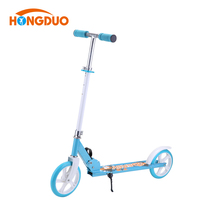 Cheap custom All aluminum Blue new design 2 wheel child 200mm adult kick foot scooter for sale