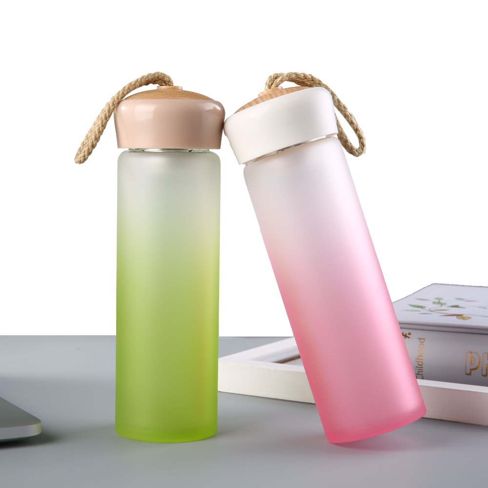 2017 hot new products double wall glass bottles environment borosilicate glass water bottle with tea fruit filter infuser