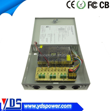12VDC 5A security camera power supply , 6/9/18ch 12v dc power box cctv