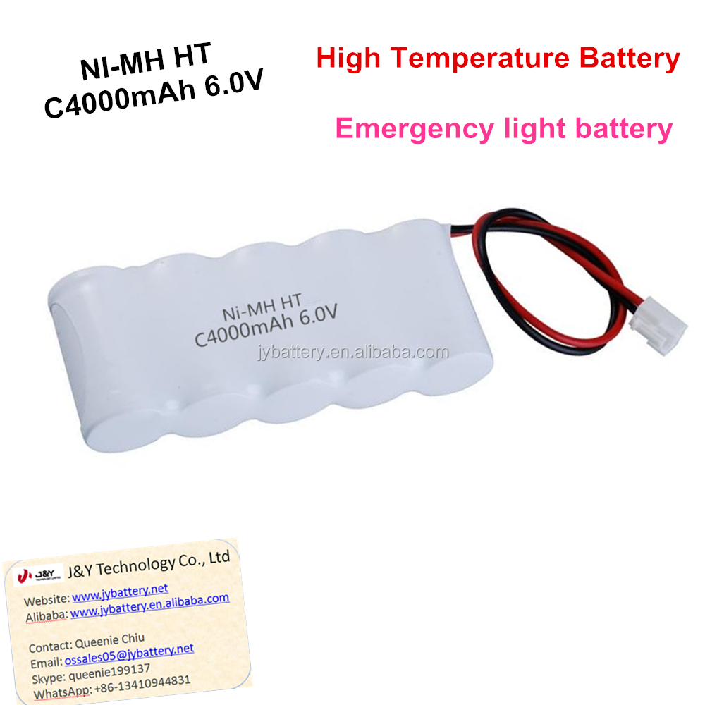 good quality nimh C4000mAh 6V HT high temperature emergency light battery