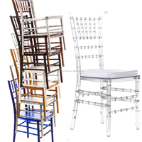 China factory used cheap price transparent resin tiffany chiavari chairs for sale
