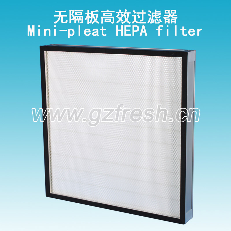 Mini-pleat HEPA Filter For Food Industry