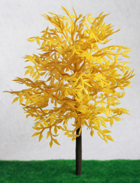 Scale 3D yellow architectrual decoration model tree,modeltree for layout,scale and good quality model tree,decorative model tree