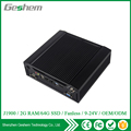 High qualified 24V Fanless Mini PC with CPU J1900 Two LAN