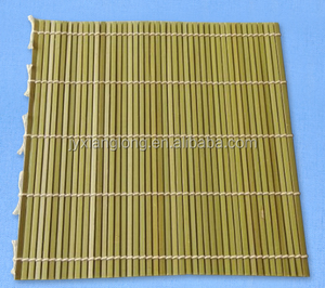 High quality natural green color bamboo sushi rolling mat size 24cm*24cm from direct factory price China