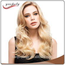 alibaba express 2017 Curly Wig Long Synthetic blonde Wigs