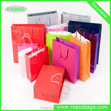 Custom LOGO Printed Paper Bag With Handles/Direct Factory Machine Made Luxury custom paper bag