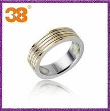 wholesale men spikes stainless steel ring /gold wedding ring