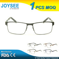 2016 Joysee Good Quality Latest Designer Fashion Styles Classic Mens Metal Optical Eye Glasses Frame Fast Shipping China