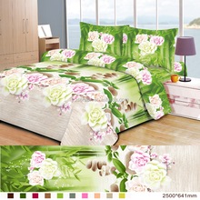 100% brushed polyeste printed fabric for bed sheet