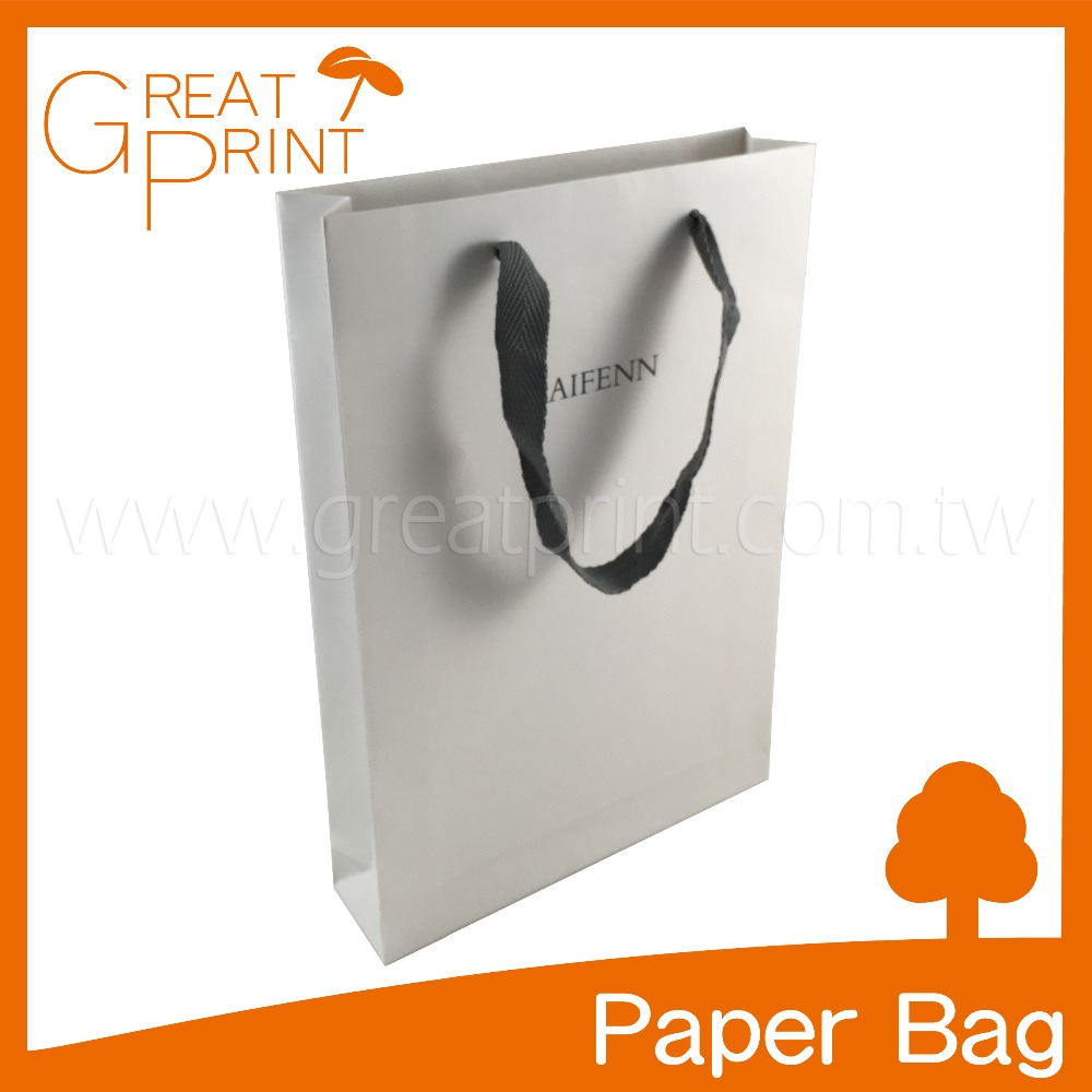 Manufacturer White Luxury Shopping Gift Paper Bag