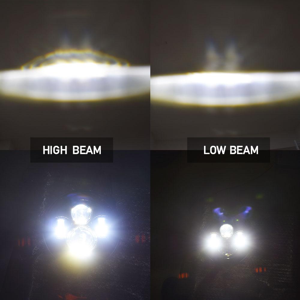 7 pouces H4 H13 rtb A Mené Le Phare De Moto avec Halo D'oeil D'ange DRL Lumières
