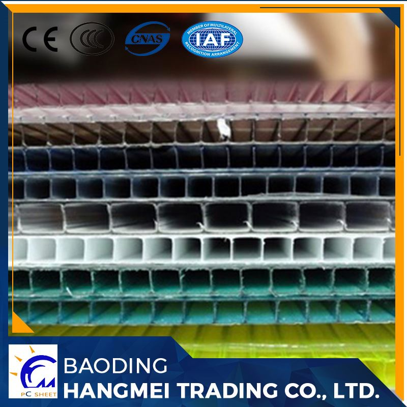construction building material prices twin wall polycarbonate sheet