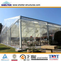 50x50m 1600 people a shape aluminum pvc roof and side wall large big temporary transparent wedding tent supplies