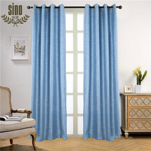 Cotton Linen Thermal Blackout Window Curtains