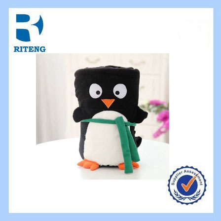 promotion children blanket with black and white penguin design