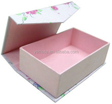Matt Lamination Recycle Colorful Light Pink and Blue Printed Folding Shoes Packaging Paper Box