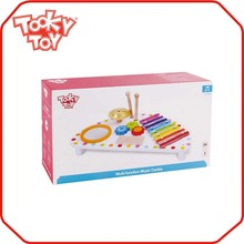 Education Toy Miniature Wooden Music Instrument toys drum