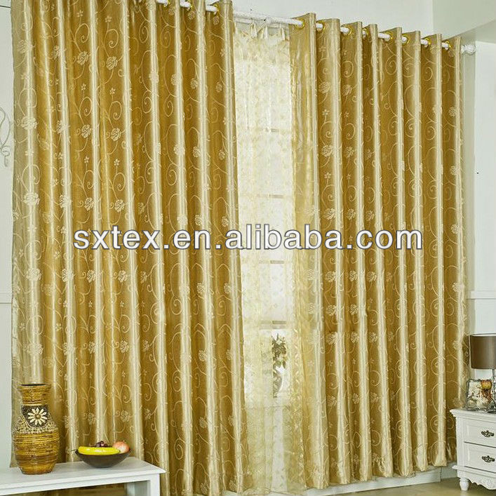 Gold panel curtains