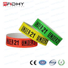 Medical id bracelet manufacturers disposable paper RFID wristband ultralight chips