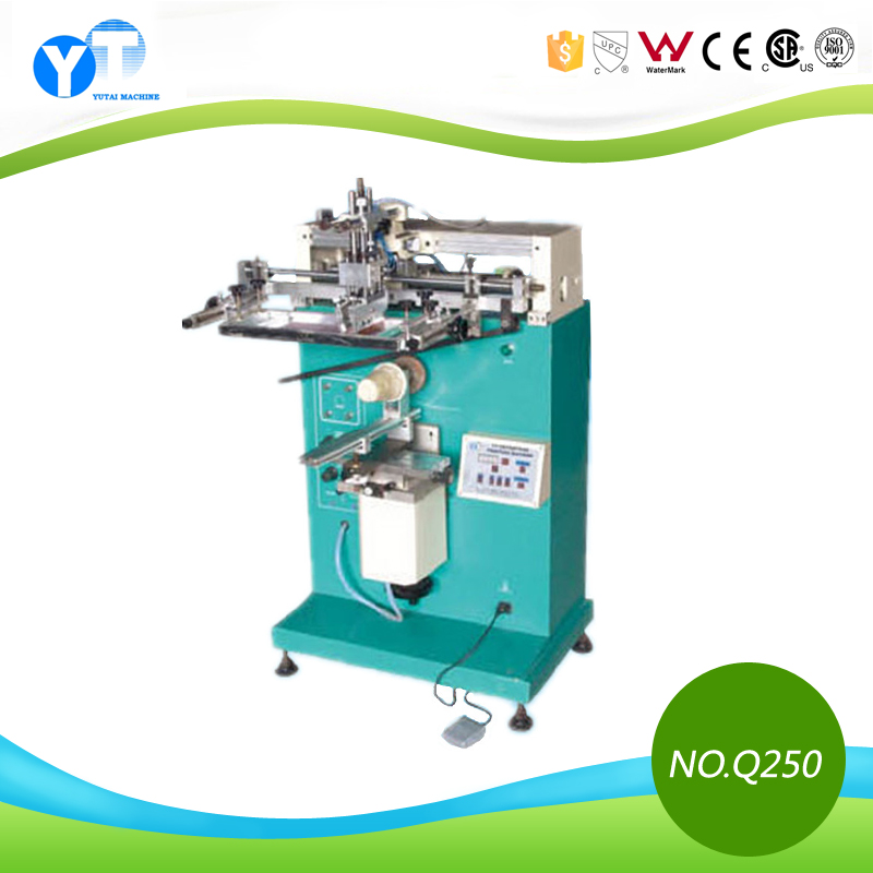 YT-Q250 Multi-function Semi Automatic Glass and Plastic Bottles Silk Screen Printing Machine