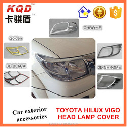 Exterior accessories ABS Plastic head lamp cover for Toyota hilux vigo China manufacturer car accessories