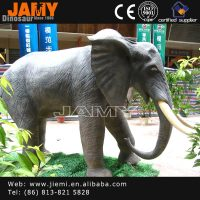Newly Design Playground Animal Products Life Size Robotic Elephant Model
