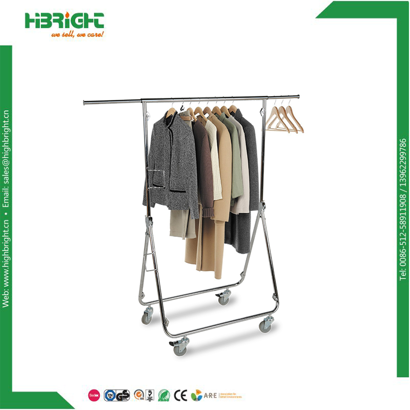 <strong>retail</strong> garment clothing display rack foldable hanging clothes drying rack