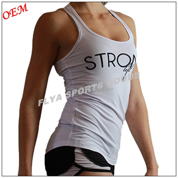 wholesale women casual 100 cotton tank top for gym