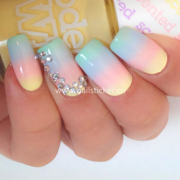 Pearlescent Christmas decorations 3D nail art decals acrylic rhinestone nail tattoo stickers China Supplies