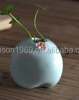 Buy Customized Ceramic stone shape flower vase diffuser container ...