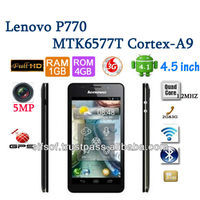 Lenovo P770 MTK6577T Dual Core Android4.1 Jelly Bean 4.5Inch IPS 4GB ROM 1GB RAM 5MP 3G GPS Phone Black